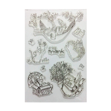 MSDS Factory Audit Full Design Decorative Rubber Clear Stamps Flowers For Card Making