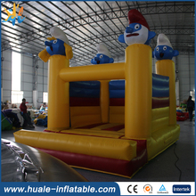 The smurfs hot sale customized inflatable PVC baby jumper bouncer with factory lower price