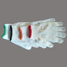 Plain White Cotton Gworking Glove For Industrial Use