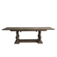Vintage french rustic furniture solid oak wood extension dining table