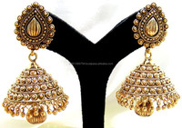 Latest Polki Jhumka Designs