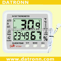 Digital thermometer humidity meter KT204 temperature humidity calendar