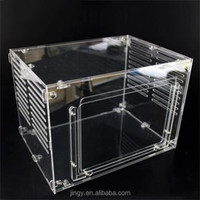 perspex rectangular pet appliances acrylic reptile feeding box