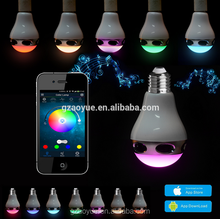 Music player 15W led bulb speaker bluetooth with CE RoHS FCC