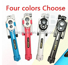 Mini Extendable Universal selfie stick with bluetooth shutter button+Remote Shutter For Camera For iPhone and for android