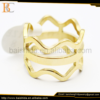 new design ladies finger ring gold plated ring jewellery making supplies