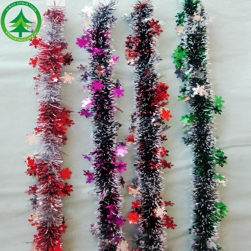 Wholesale christmas tinsel garland online buy best Garland tree decoration