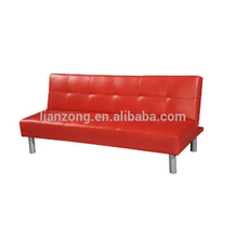 2017 New arrival living room furniture synthetic PU german sofa bed