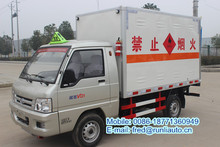 Factory supplied FOTON Forland 4*2 flammable gas cylinder transport van truck/vehicle with emission Europe IV for sale