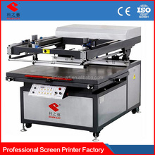 2015 hot sale vacuum flatbed semi auto screen printing machine price