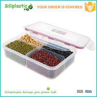 Wholesale easy to find lid spill proof locking system plastic container for food