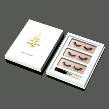 HZJY  Luxury White Eyelashes Custom Packaging Box