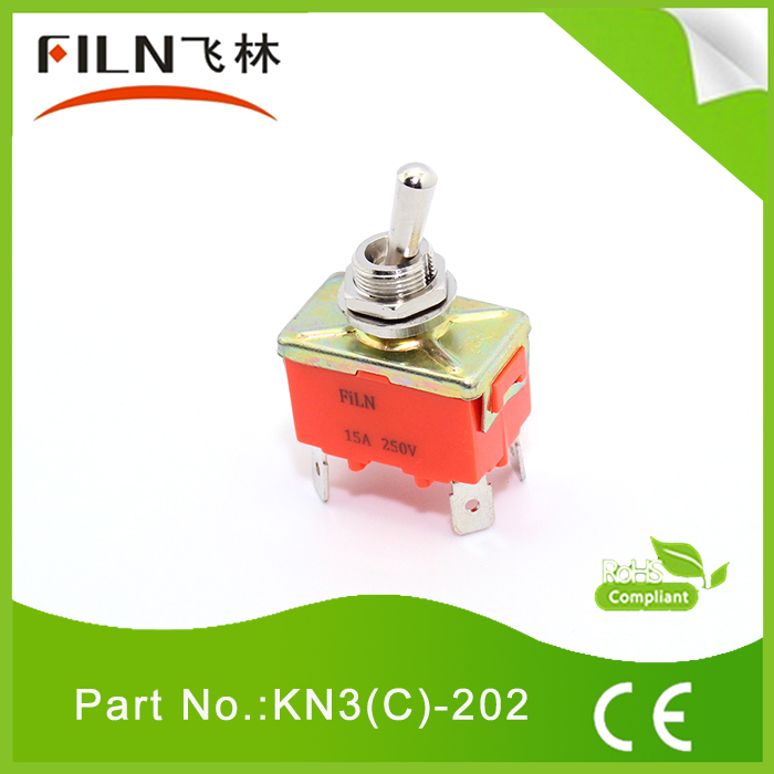 on off heavy duty 4 pins toggle switch