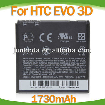 Newest mobile phone battery for htc sentation EVO 3D G14 Z710e BG86100