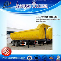 Best selling U shape 2 axles rear tipping truck trailer/twin axles dump semi trailer