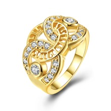 SJ Latest Design Indian Jewelry Real Gold Plated Eco-friendly Brass Gear Shape Unique Finger Smart Ring for Girls SJKZCR487