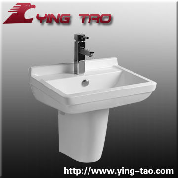 Modern sink china made chaozhou manufacturer stainless steel kitchen basin Hospital semi-pedestal basin
