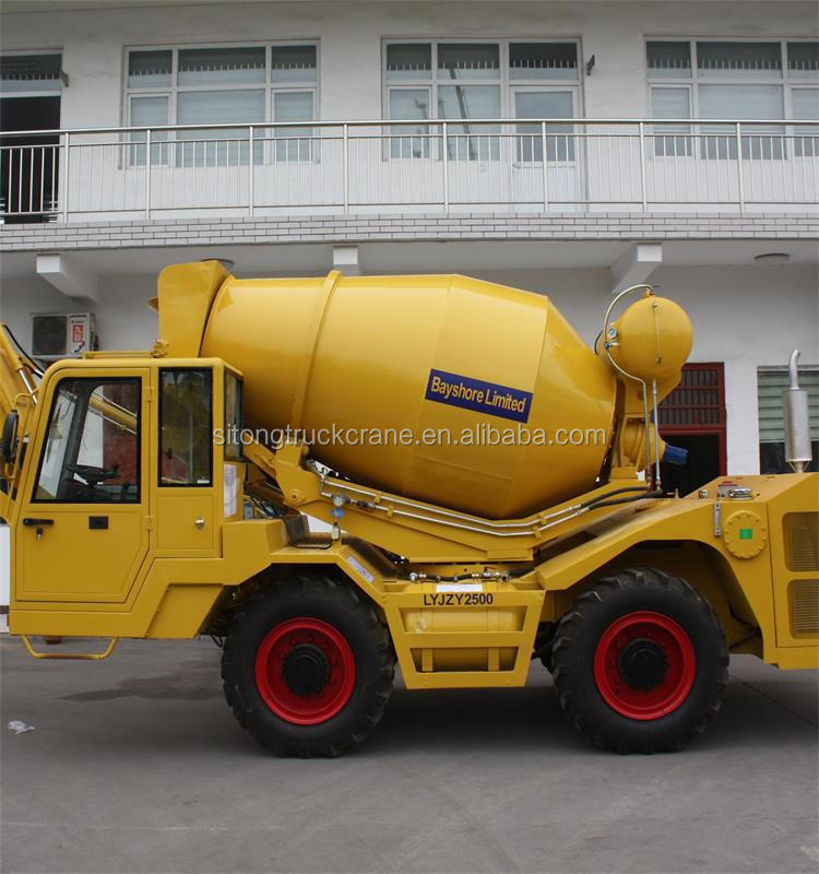 hydraulic pump 3.5 cubic meters self loading concrete mixer truck dimensions for sale
