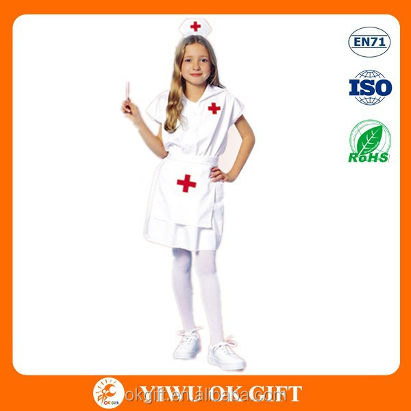 New child nurse costume,kids nurse costume,nurse uniform