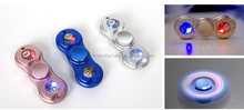 2017 hot colorful lighting fidget spinner aluminum led hand spinner with led light