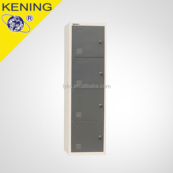 modern single door metal storage cube locker 4 door