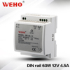 low noise 60W Power supply 5A 12v 60w din rail switching power supply