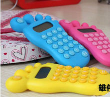 New Novelty Foot Shape Cute Calculators in Beautiful Colors