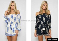 2017 Summer Ladies Printed Flower Off-shoulder Sexy Short Clothes Women Dress