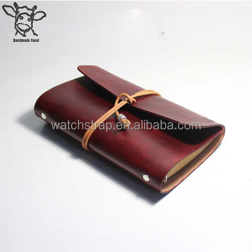 Handmade Band Custom design soft cover embossed logo leather notebook