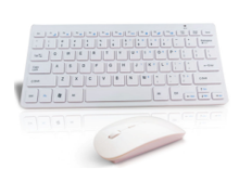 2.4GHz Ultra-slim silent Wireless Keyboard with USB Mouse Receiver Set for PC Laptop
