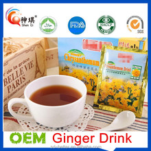 Ginger té de hierbas naturales, honey ginger tea, Instantánea bebida de ginger