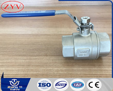 Made in China 316 stainless steel 2 piece ball valve