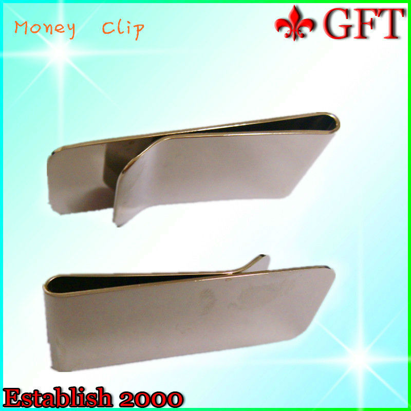 High quality stainless steel cool money clip GFT-2075