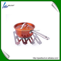 folding Stainless steel kitchen metal hot pad