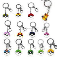 2016 hot selling custom pokemon go game keychain/pokemon metal keychain
