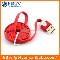 Wholesale Cheap Noodle Flat Mobile Phone USB Cable For iPhone 5 / 6 , Fast Data Sync USB Charging Cable