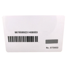 White barcode scratch off IC Chip Blank <strong>Card</strong>