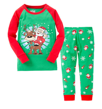 2015 Chrismas design kids autumn pyjamas sets, sleep wear clothes