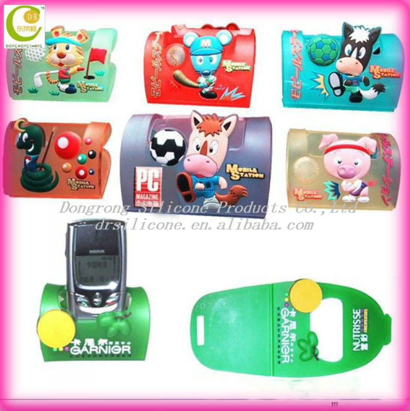 OEM customized gifts soft pvc mobile phone holder , dog mobile phone holder , animal mobile phone holder