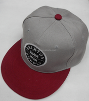Wholesale fashion 6 Panel 3D Embroidery flat bill snapback cap and hat