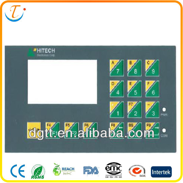 made in China LED LCD high quality backlight auto custom membrane keypad circuit
