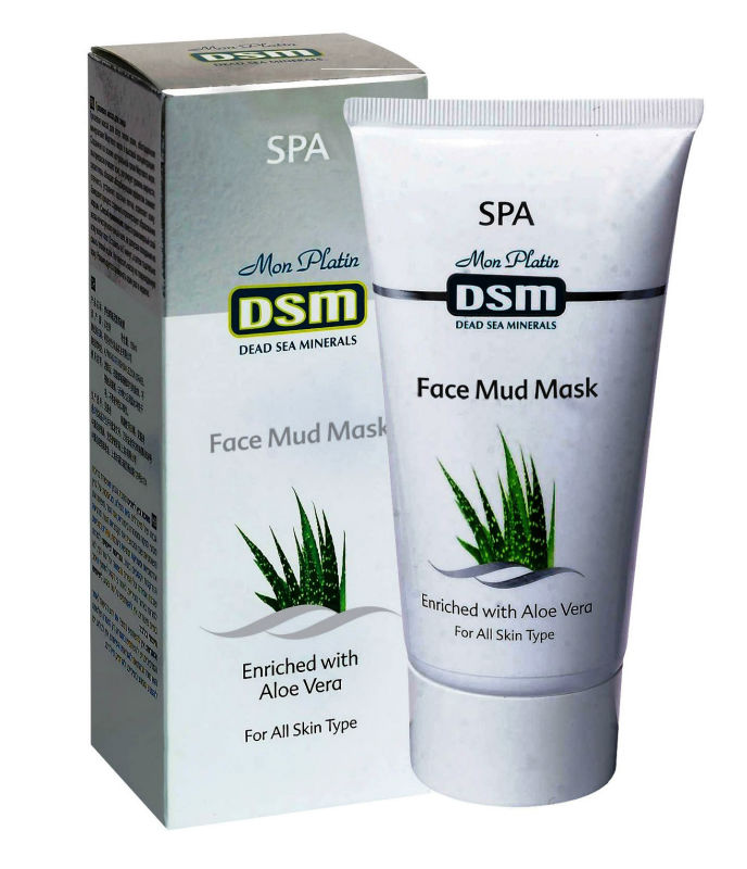 Dead Sea Mud Mask For Face With Aloe Vera 150ml/5oz Authentic from israel Mon Platin All Skin Vitamins Minerals Face Care