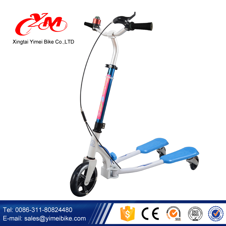 2016 Yimei Patent kids kick scooter with brake / best selling three wheels kids scooter / Stunt Dirt aluminum child scooter