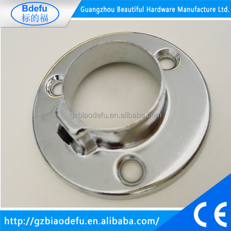 Wholesale 25mm chrome round pipe flange ,pipe fitting