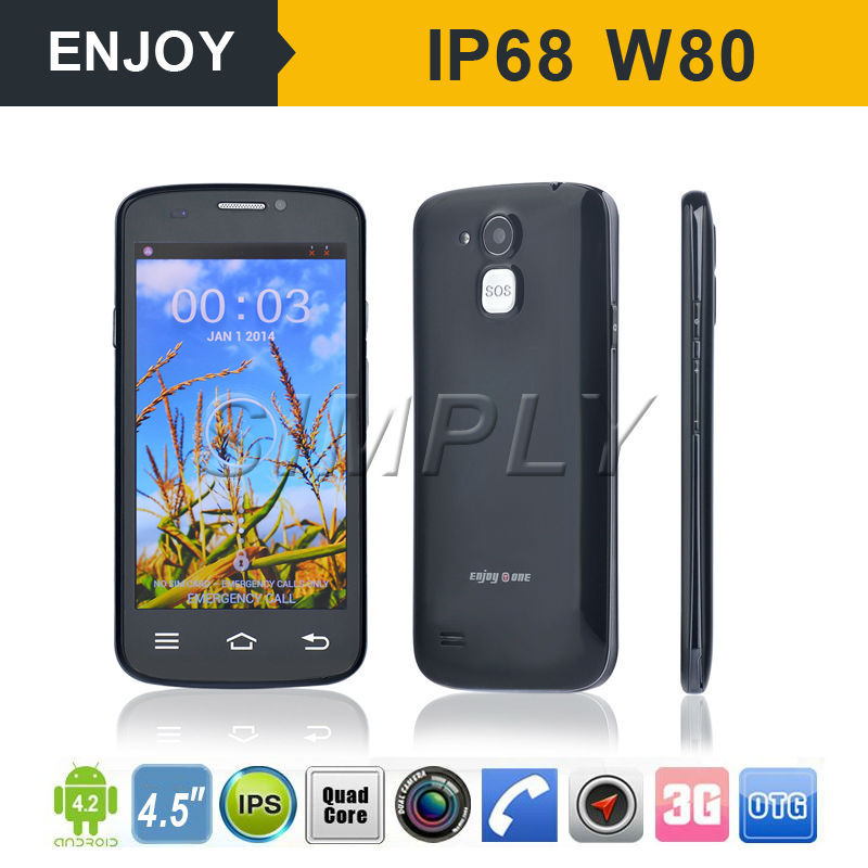 "4.5"" 3G Android Video Call Elder Mobile Phone with SOS. WIFI. GPS BT4.0"