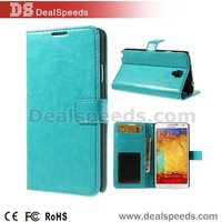 Crazy Horse Wallet Leather Cover with Stand Case for Samsung Galaxy Note 3 n9000 n9002 n9005 lcd