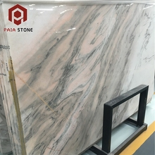 Natural Aurora Pink Stone China Marble Slab 24x24 Price