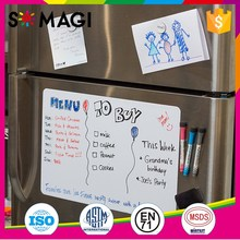 Dry Erase fridge magnet writing board - Flexible fridge magnet sticker, Smooth Glossy Magnetic Organizer
