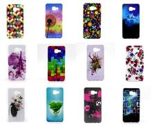 High Quality Colorful Squares Soft TPU Case Cover for Samsung A7(2016) TPU Case for Galaxy