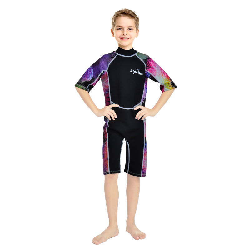 shorty soft and cute swimming/diving/snorkeling kid's wet suits